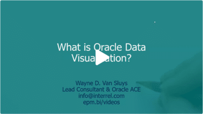 What is Oracle Data Visualization