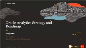 Oracle Analytics Strategy & Roadmap Presentation